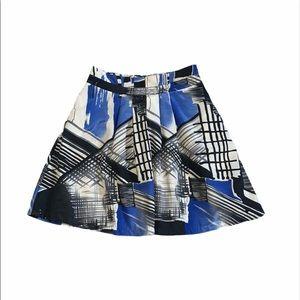 Forever 21 XXI medium skirt blue black abstract
